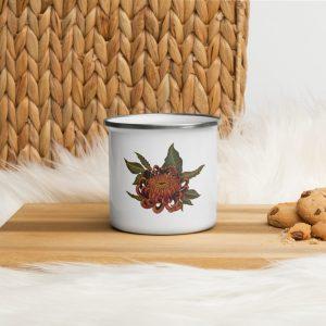 Enamel Mug Flower Volgo