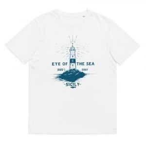 Unisex organic cotton t-shirt (Eye of the sea)